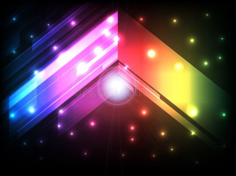 Abstrakt begrepp färgar geometrisk bakgrund vektor illustrationer