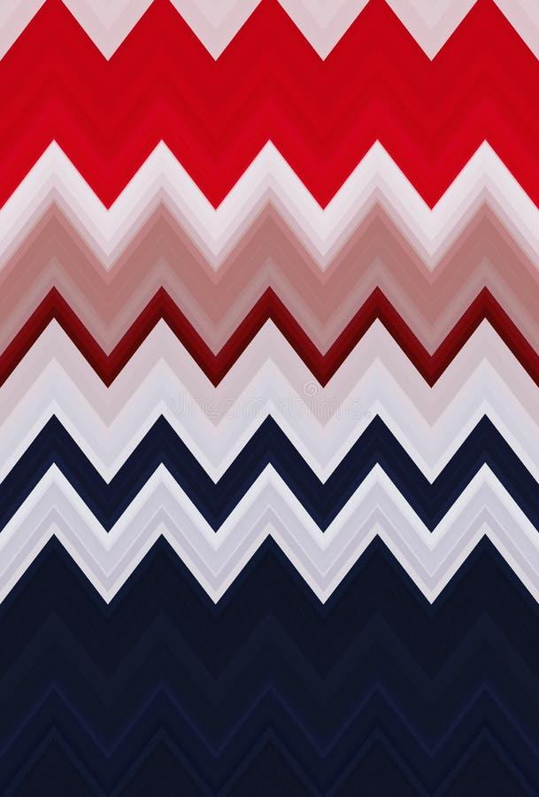 Abstrakt begrepp f?r bakgrund f?r sparresicksackmodell flagga royaltyfri illustrationer
