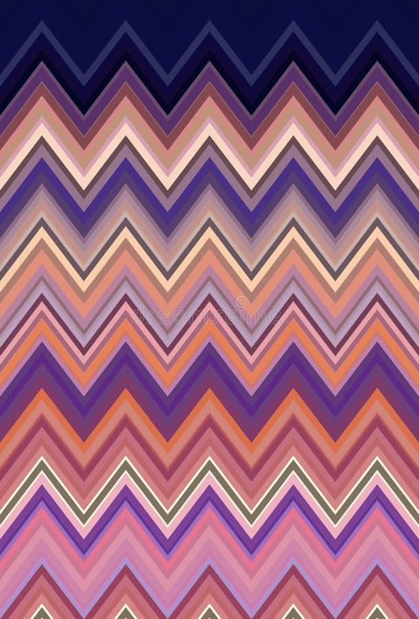 Abstrakt begrepp f?r bakgrund f?r sparresicksackmodell modern mosaik stock illustrationer