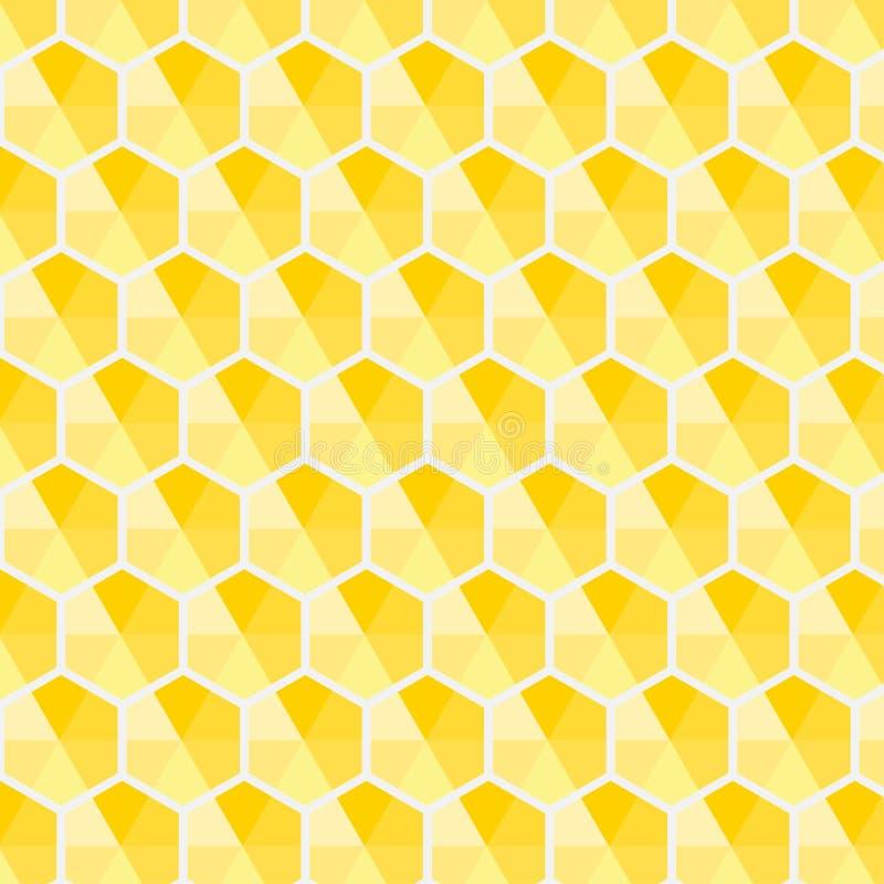 Abstrakt begrepp för bakgrund för vektor för modell för skugga för honungskakasexhörningsguling stock illustrationer