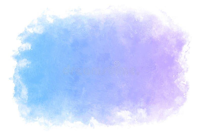 Abstrakt begrepp för blått vatten för lutningfärgsommar eller naturlig vattenfärgmålarfärgbakgrund royaltyfri illustrationer