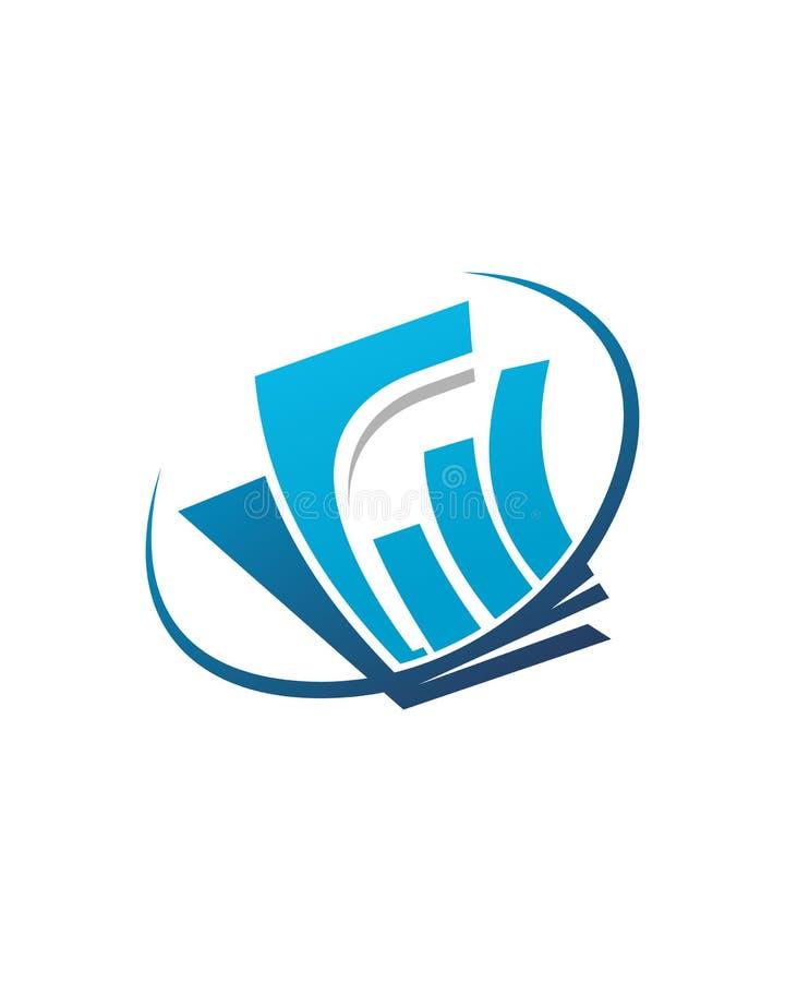 Abstrakt begrepp för försäkring för affär för bokföringlogodesign 3