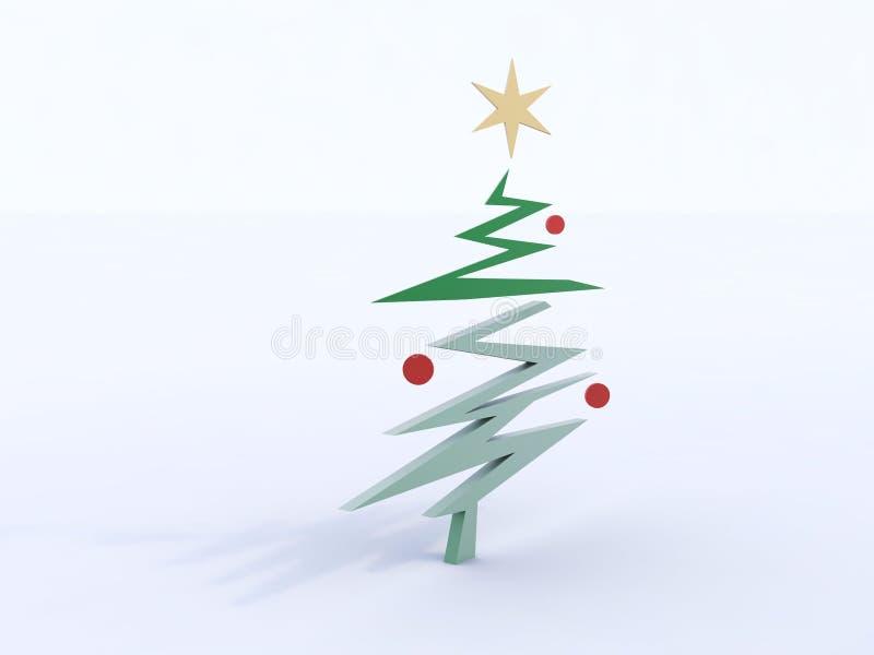 Abstrakt begrepp för julgran vektor illustrationer