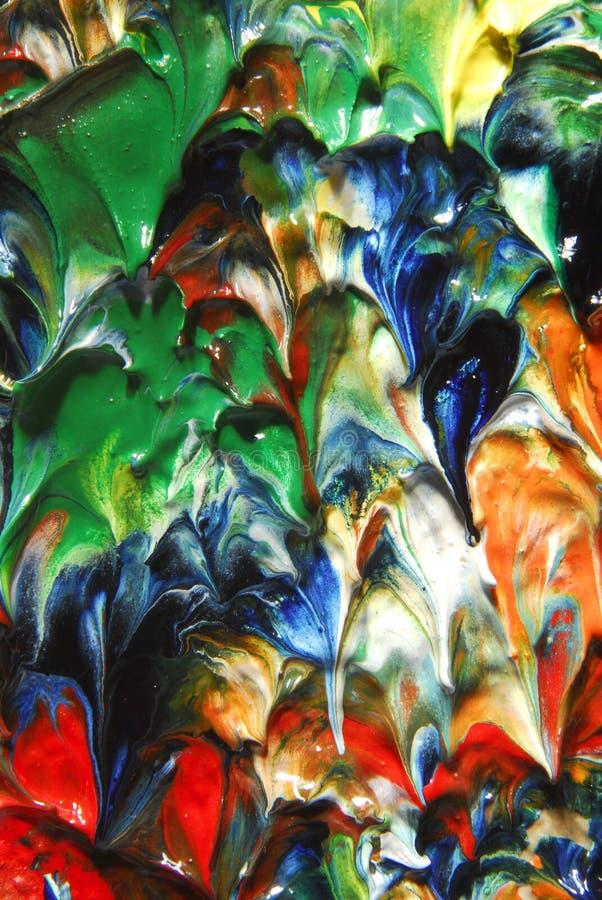 Abstrakt begrepp för olje- målning arkivbild