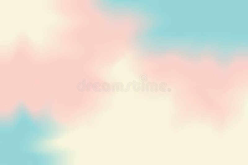 Abstrakt begrepp för pastell för konst för målning för bakgrund för blå färg för rosa färgguling mjuk blandat, färgrik konsttapet stock illustrationer