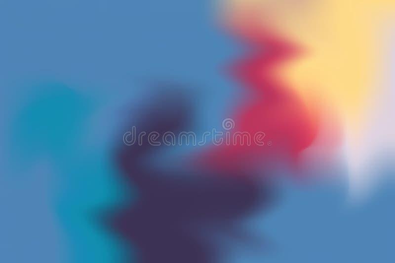 Abstrakt begrepp för pastell för konst för målning för bakgrund för blå färg för rosa färgguling mjuk blandat, färgrik konsttapet vektor illustrationer