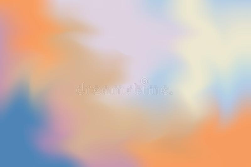 Abstrakt begrepp för pastell för konst för målning för bakgrund för blå mjuk färg för apelsin blandat, färgrik konsttapet royaltyfri illustrationer