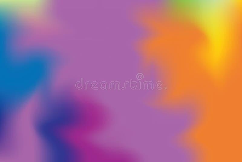 Abstrakt begrepp för pastell för konst för målning för bakgrund för blå mjuk färg för lilor blandat, färgrik konsttapet royaltyfri illustrationer