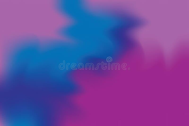 Abstrakt begrepp för pastell för konst för målning för bakgrund för blå mjuk färg för lilor blandat, färgrik konsttapet vektor illustrationer