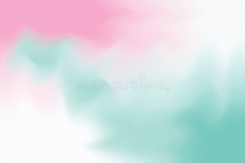 Abstrakt begrepp för pastell för konst för målning för bakgrund för blå mjuk färg för rosa färger blandat, färgrik konsttapet royaltyfri illustrationer