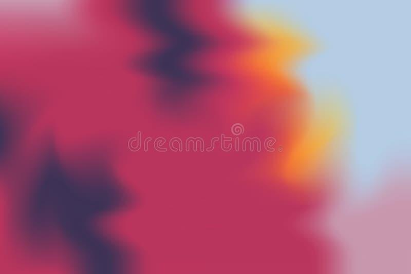 Abstrakt begrepp för pastell för konst för målning för bakgrund för blå mjuk färg för rosa färger blandat, färgrik konsttapet vektor illustrationer