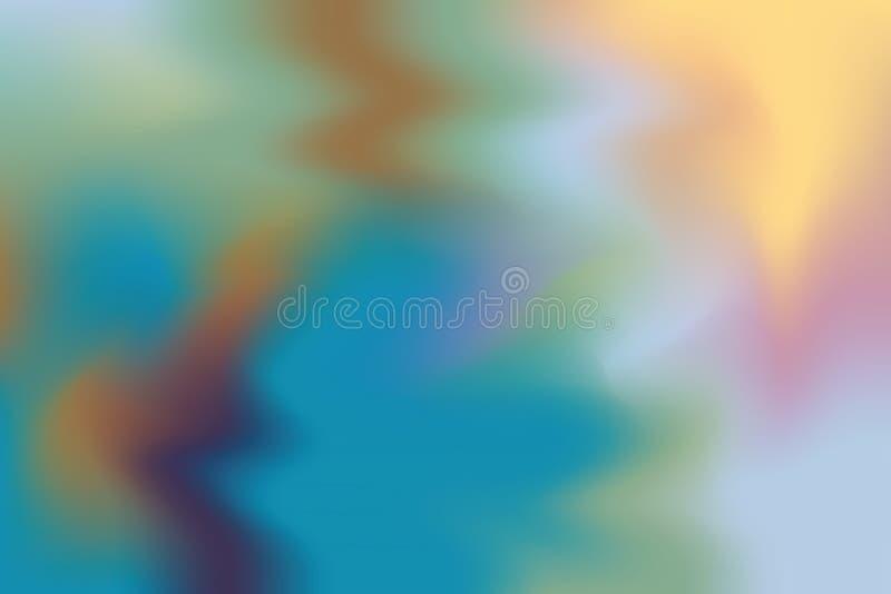 Abstrakt begrepp för pastell för konst för målning för bakgrund för grön färg för gulingblått mjuk blandat, färgrik konsttapet stock illustrationer