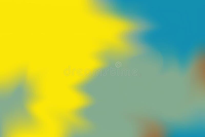 Abstrakt begrepp för pastell för konst för målning för bakgrund för gul färg för blå gräsplan mjuk blandat, färgrik konstwallpap royaltyfri illustrationer