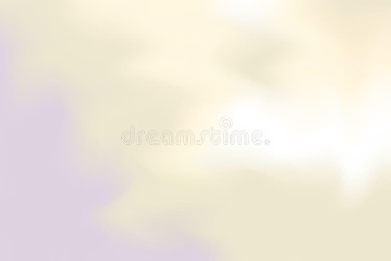 Abstrakt begrepp för pastell för konst för målning för bakgrund för gul mjuk färg för lilor blandat, färgrik konsttapet stock illustrationer