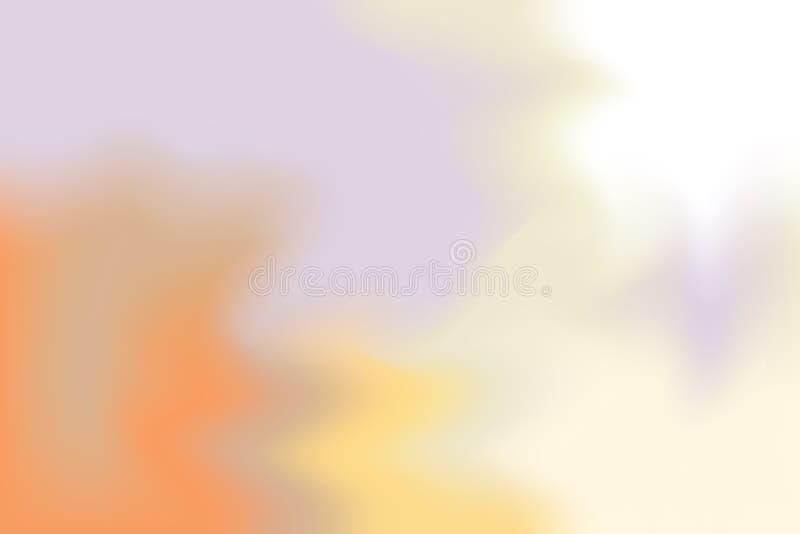 Abstrakt begrepp för pastell för konst för målning för bakgrund för gul mjuk färg för lilor blandat, färgrik konsttapet vektor illustrationer