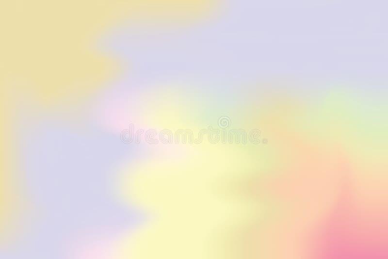 Abstrakt begrepp för pastell för konst för målning för bakgrund för gul mjuk färg för lilor blandat, färgrik konsttapet royaltyfri illustrationer