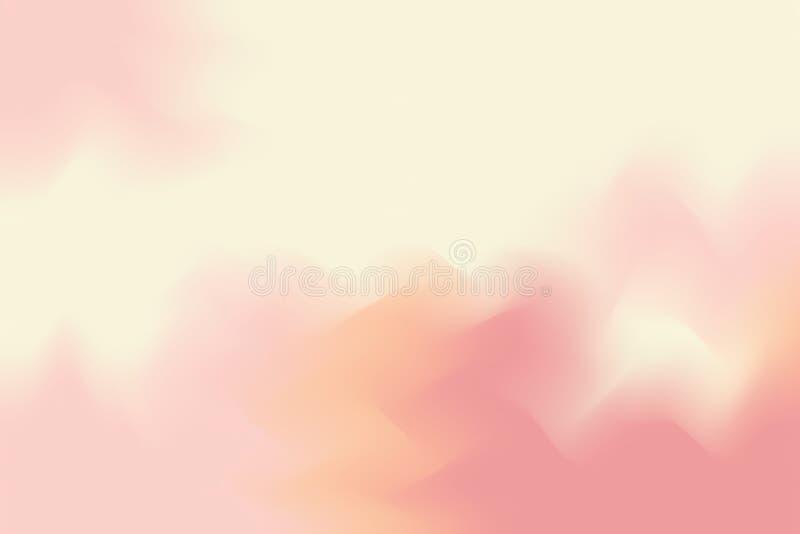 Abstrakt begrepp för pastell för konst för målning för bakgrund för gul mjuk färg för rosa färger blandat, färgrik konsttapet stock illustrationer