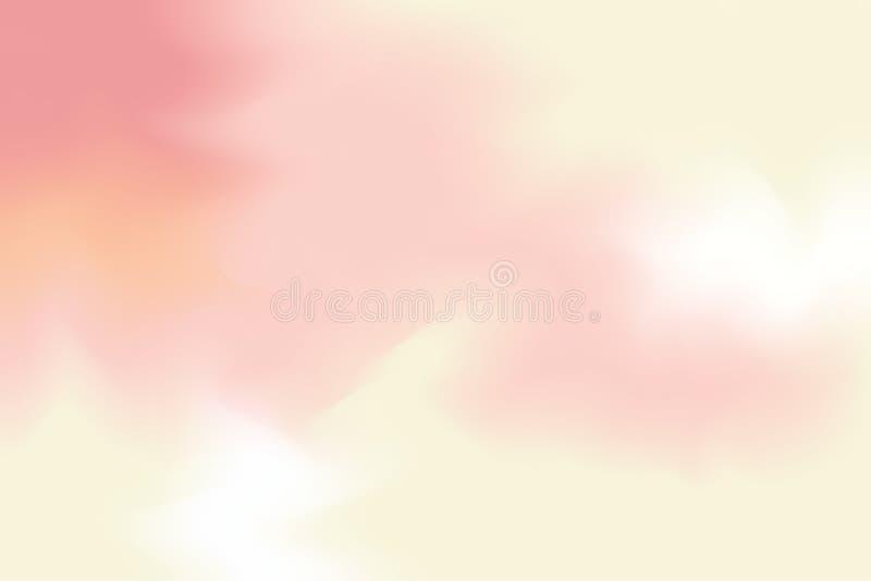 Abstrakt begrepp för pastell för konst för målning för bakgrund för gul mjuk färg för rosa färger blandat, färgrik konsttapet vektor illustrationer