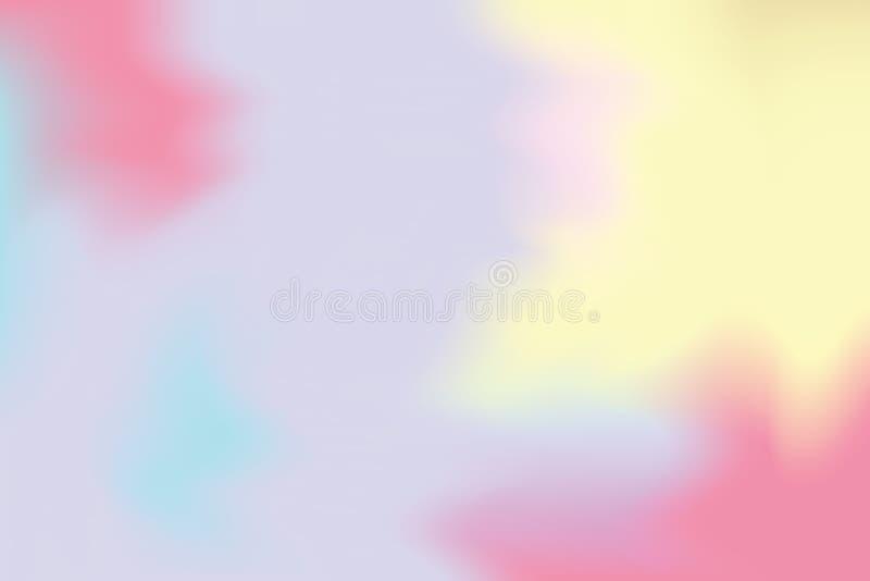 Abstrakt begrepp för pastell för konst för målning för bakgrund för gul mjuk färg för rosa färger blandat, färgrik konsttapet royaltyfri illustrationer