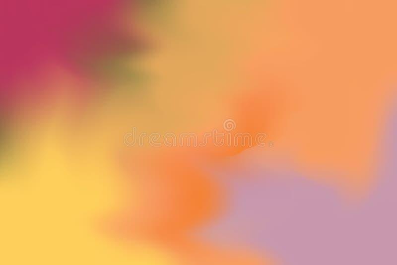 Abstrakt begrepp för pastell för konst för målning för bakgrund för gul orange mjuk färg för rosa färger blandat, färgrik konstta royaltyfri illustrationer