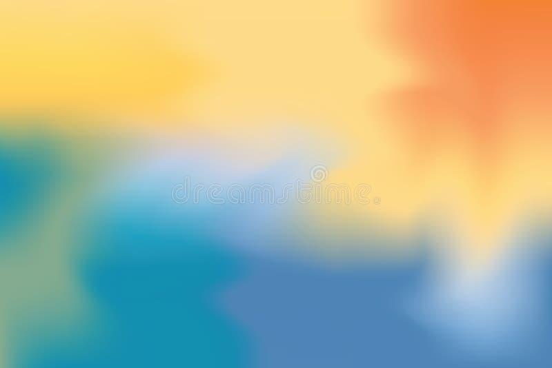 Abstrakt begrepp för pastell för konst för målning för bakgrund för mjuk färg för blått för orange guling blandat, färgrik konstt vektor illustrationer