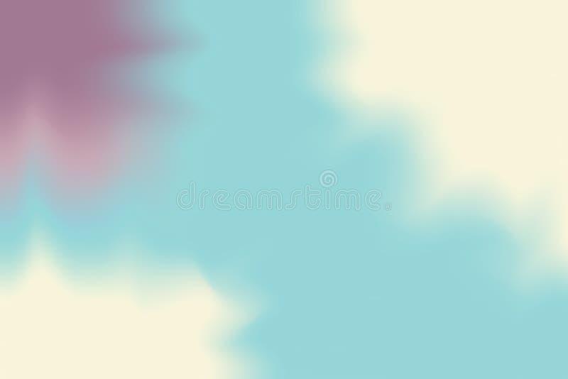 Abstrakt begrepp för pastell för konst för målning för bakgrund för mjuk färg för lilablåttguling blandat, färgrik konsttapet vektor illustrationer