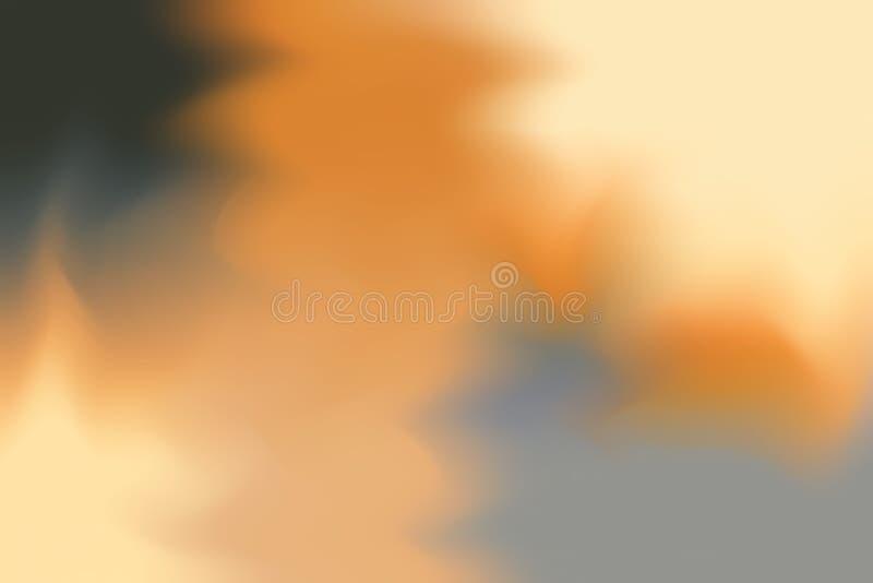 Abstrakt begrepp för pastell för konst för målning för bakgrund för mjuk färg för orange guling blandat, färgrik konsttapet stock illustrationer