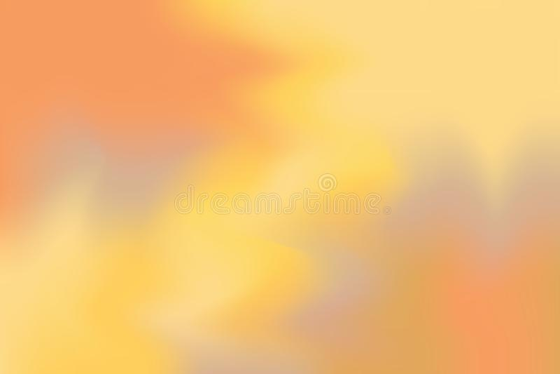 Abstrakt begrepp för pastell för konst för målning för bakgrund för mjuk färg för orange guling blandat, färgrik konsttapet royaltyfri illustrationer