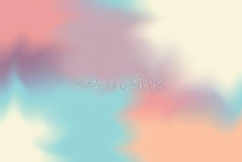 Abstrakt begrepp för pastell för konst för målning för bakgrund för mjuk färg för rosa färgblåttguling blandat, färgrik konsttape royaltyfri illustrationer
