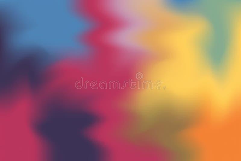 Abstrakt begrepp för pastell för konst för målning för bakgrund för mjuk färg för rosa färggulingblått blandat, färgrik konsttape royaltyfri illustrationer
