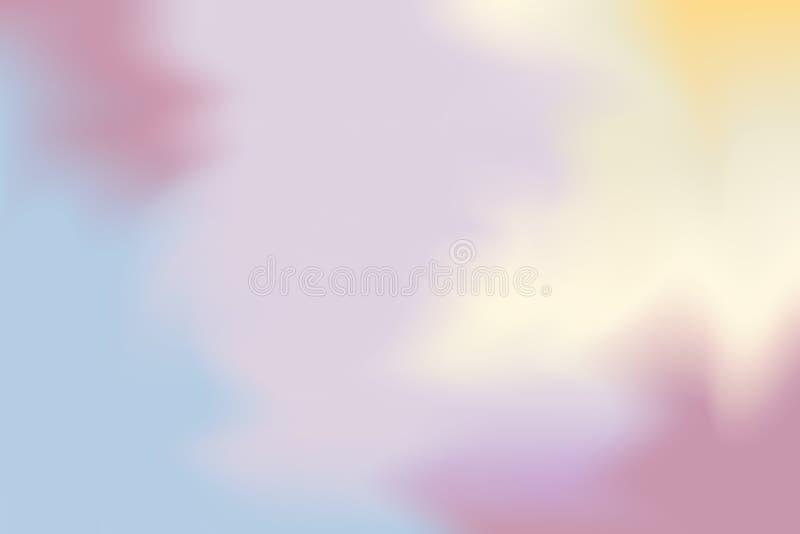 Abstrakt begrepp för pastell för konst för målning för bakgrund för mjuk färg för rosa färggulingblått blandat, färgrik konsttape stock illustrationer