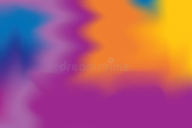 Abstrakt begrepp för pastell för konst för målning för bakgrund för purpurfärgad färg för apelsinblått mjuk blandat, färgrik kons royaltyfri illustrationer