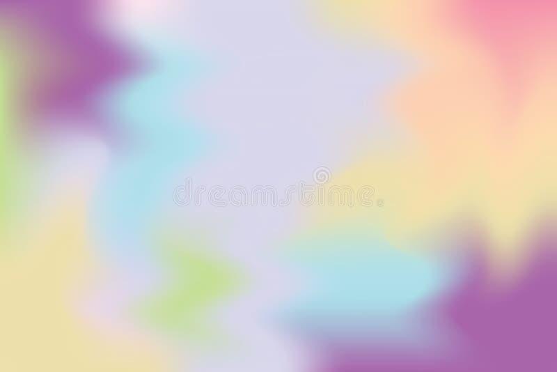 Abstrakt begrepp för pastell för konst för målning för bakgrund för purpurfärgad färg för rosa färgblått mjuk blandat, färgrik ko vektor illustrationer