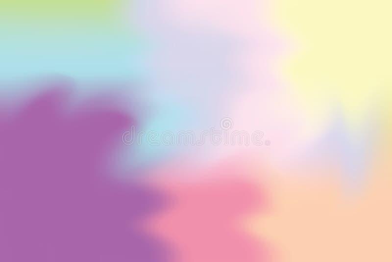 Abstrakt begrepp för pastell för konst för målning för bakgrund för purpurfärgad färg för rosa färgblått mjuk blandat, färgrik ko royaltyfri illustrationer