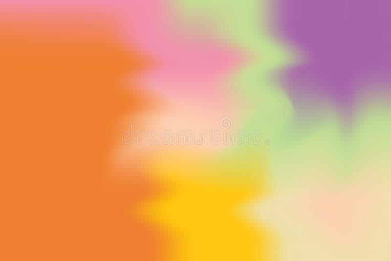 Abstrakt begrepp för pastell för konst för målning för bakgrund för purpurfärgad mjuk färg för orange guling blandat, färgrik kon stock illustrationer