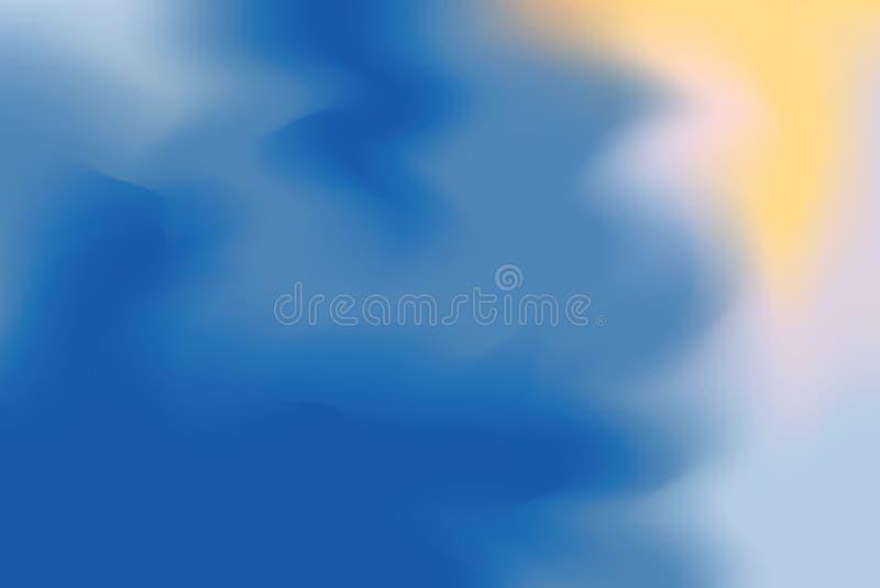 Abstrakt begrepp för pastell för konst för målning för bakgrund för röd färg för gräsplangulingblått mjuk blandat, färgrik konstw stock illustrationer