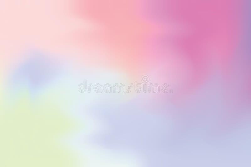 Abstrakt begrepp för pastell för konst för målning för bakgrund för rosa färg för lilablått mjuk blandat, färgrik konsttapet stock illustrationer