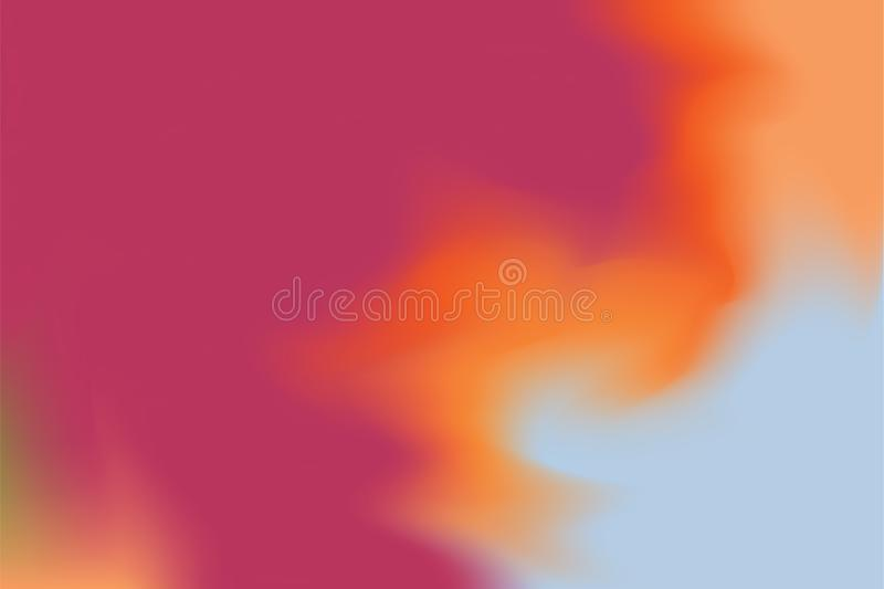Abstrakt begrepp för pastell för konst för målning för bakgrund för rosa röd för orange guling färg för blått mjuk blandat, färgr vektor illustrationer