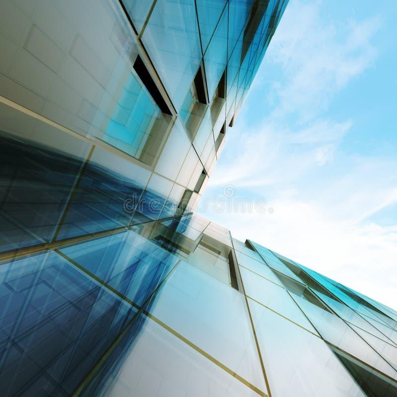 Abstrakt begrepp för skyskrapa stock illustrationer