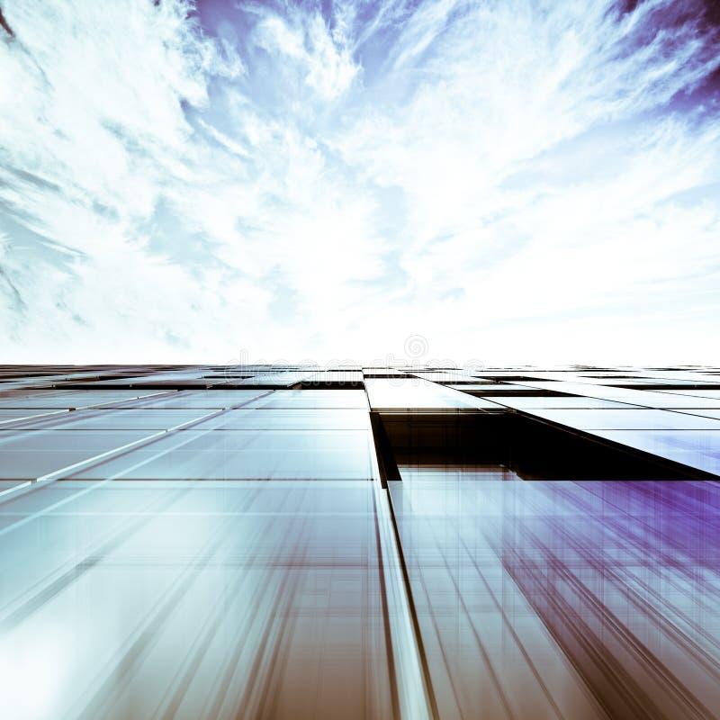 Abstrakt begrepp för skyskrapa royaltyfri illustrationer