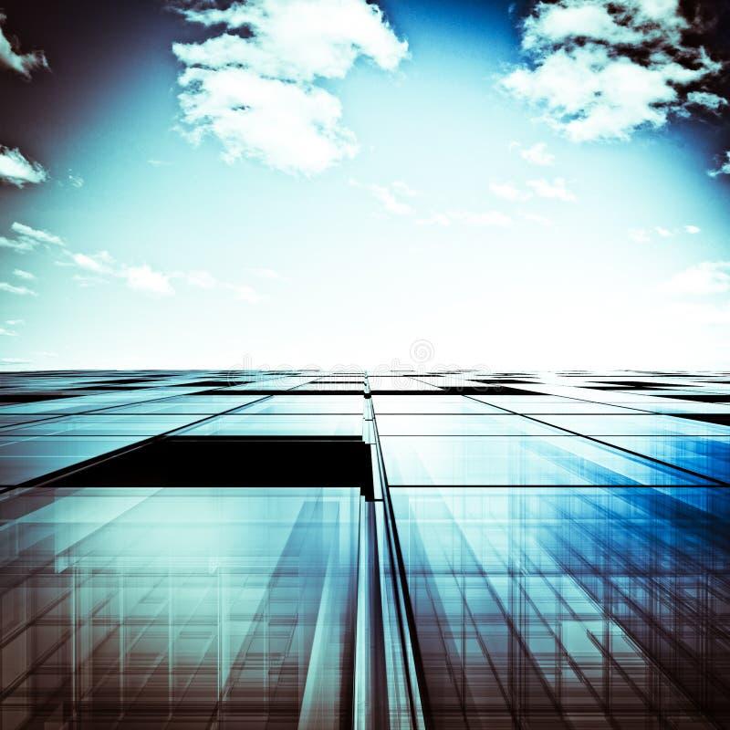 Abstrakt begrepp för skyskrapa vektor illustrationer