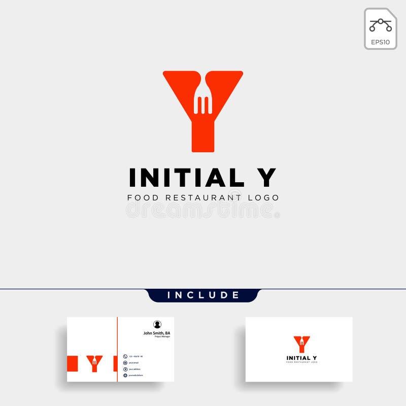 abstrakt begrepp f?r symbol f?r mall f?r logo f?r initial y-matutrustning enkelt stock illustrationer