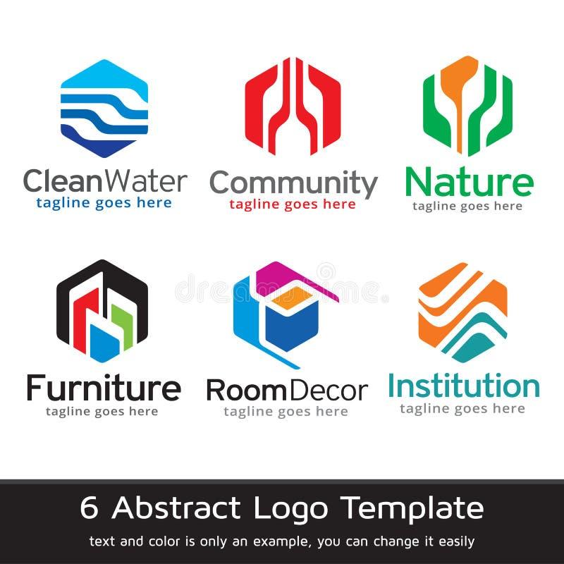 Abstrakt begrepp förhäxer Logo Template Design Vector vektor illustrationer