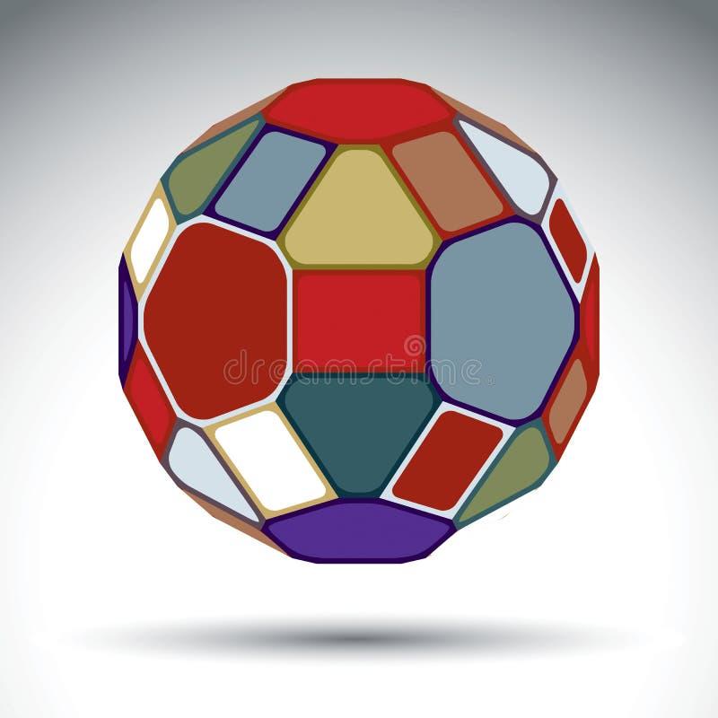 Abstrakt begrepp försvårat objekt 3d med kalejdoskopeffekt brigham stock illustrationer