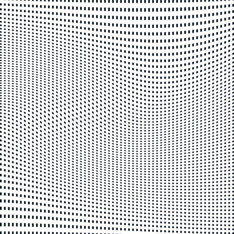 Abstrakt begrepp fodrad bakgrund, stil för optisk illusion kaotiska linjer stock illustrationer