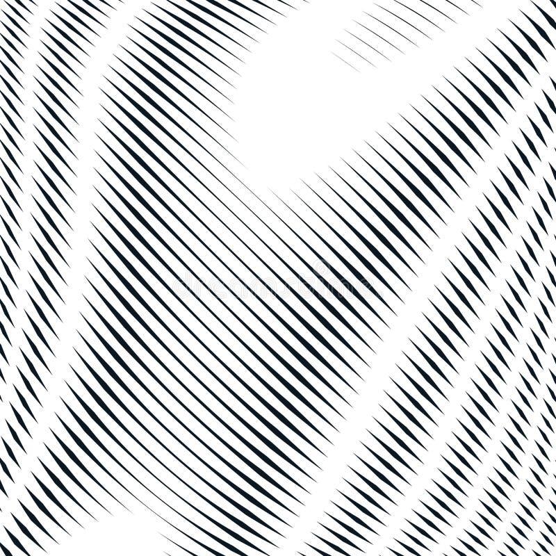 Abstrakt begrepp fodrad bakgrund, stil för optisk illusion kaotiska linjer royaltyfri illustrationer
