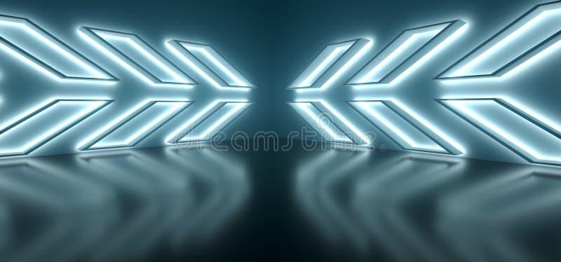 Abstrakt begrepp formar inre med mjukt ljus och reflexioner vektor illustrationer