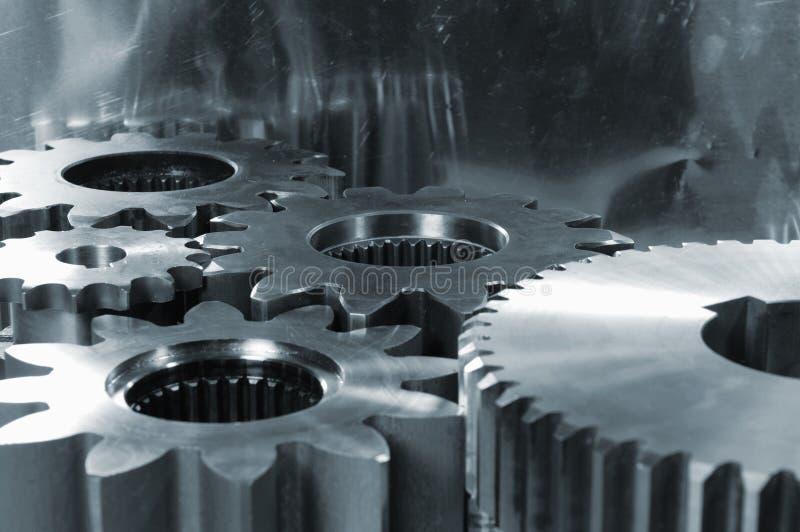 abstrakt begrepp gears maskineri arkivfoto
