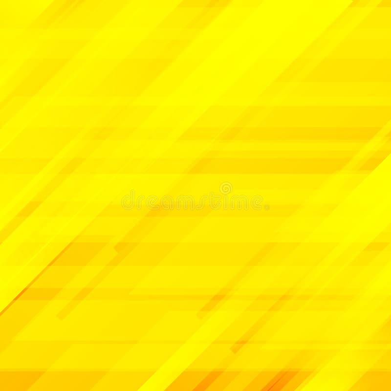 Abstrakt begrepp gjorde randig diagonal gul bakgrund Futuristisk stil för teknologi Geometriskt modernt minsta royaltyfri illustrationer