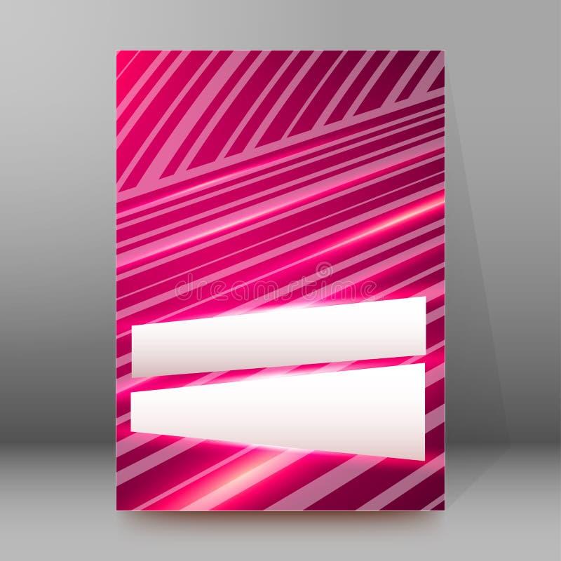 Abstrakt begrepp glow90 för stil för sidor för räkning för broschyr för bakgrundsrapport A4 vektor illustrationer
